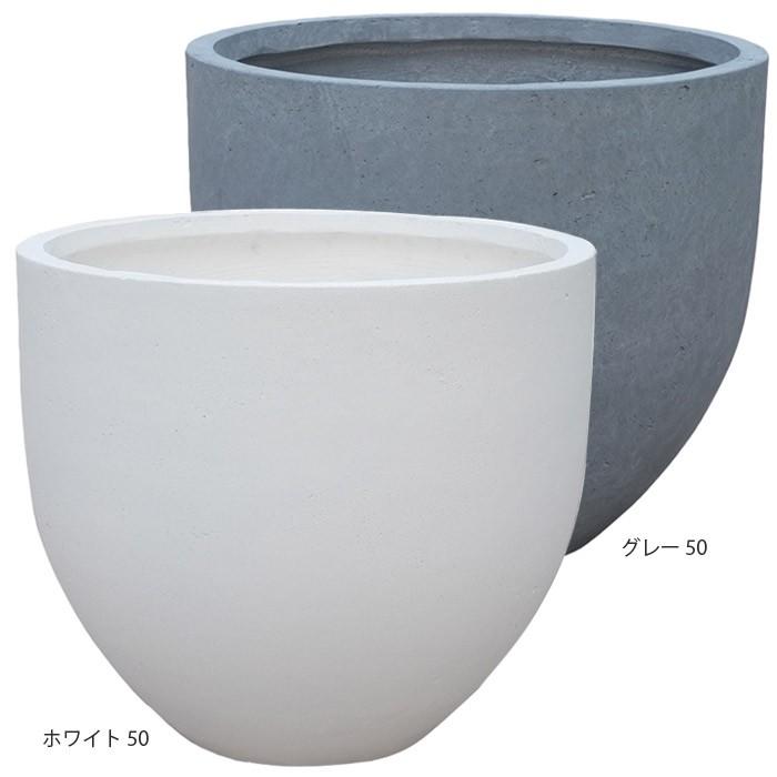 プランター大型 植木鉢 ファイバー ファイバープランター ミュウ ホワイト グレー