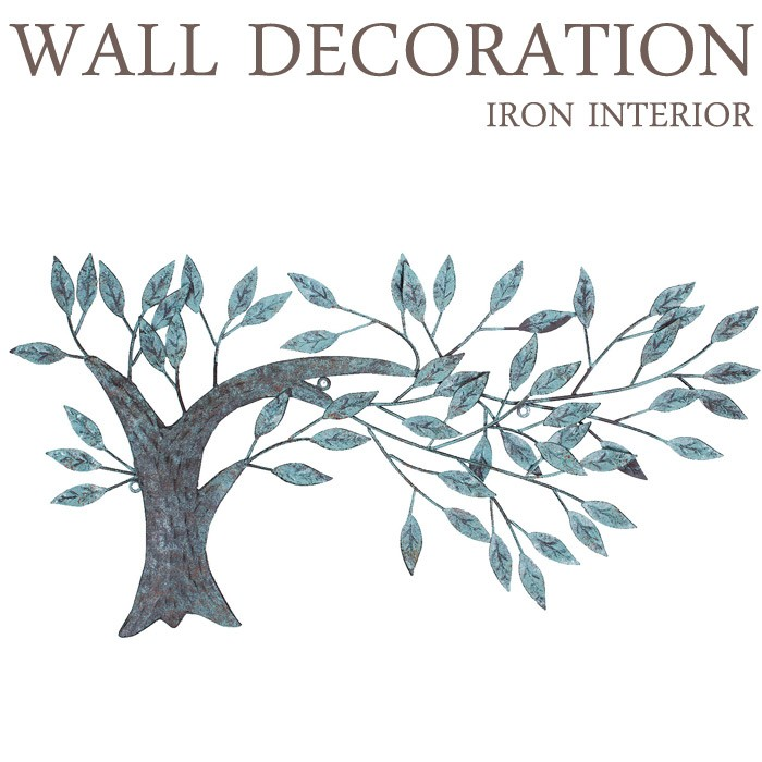 アイアンウォールデコレーション ウォールベンドツリー  インテリア雑貨 壁飾り ディスプレイ 玄関 インテリア レトロ アンティーク おしゃれ