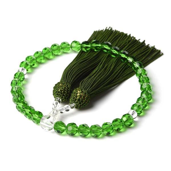 数珠 女性用 多種類選 ミラーカット  商品ポーチ付 念珠 esuon 14