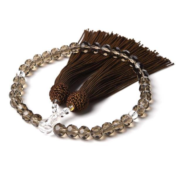 数珠 女性用 多種類選 ミラーカット  商品ポーチ付 念珠 esuon 11