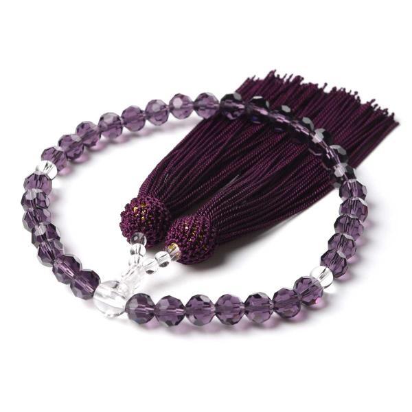 数珠 女性用 多種類選 ミラーカット  商品ポーチ付 念珠 esuon 10