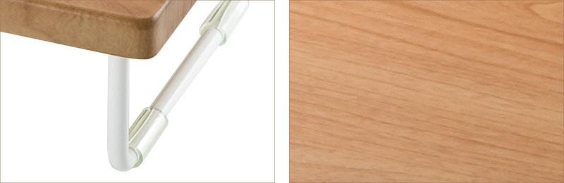 シンプルなワイヤーフレーム やさしい木目柄