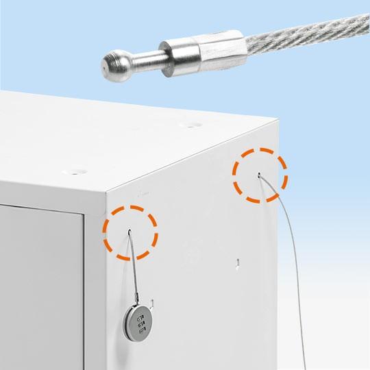 小さい穴も通せる、直径2.2mmのワイヤー。