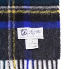 ジョンストンズカシミア大判ストールの織りネーム