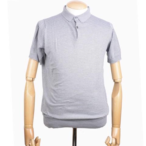 ジョンスメドレー メンズ シーアイランドコットン半袖ポロシャツのフロント