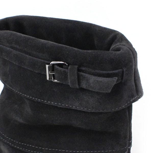 FABIO RUSCONI(ファビオ・ルスコーニ) スウェード ベルト付き ショートブーツ・98807 の詳細画像