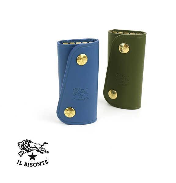 IL BISONTE(イルビゾンテ) レザー スナップボタン キーケース・54152309990  #ILBISONTE