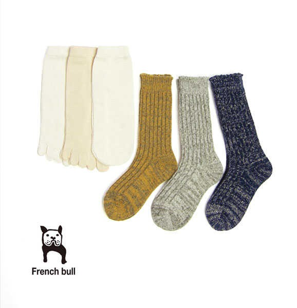 "French Bull(フレンチブル) シルク コットン ウール 冷えとりソックス 4枚セット ""hietori Life winter3""・105-014  #FrenchBull"