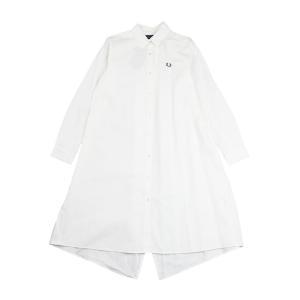 フレッドペリー シャツワンピース フィッシュテールシャツドレス FISHTAIL SHIRTDRESS FRED PERRY 2021春夏新作 レディース 国内正規品|etre!par bleu comme bleu