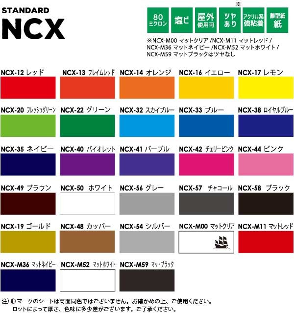 NCXカラーチップ