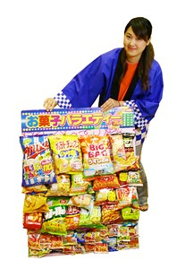 イベントグッズ/抽選くじ付景品セット/お菓子バラエティくじボード