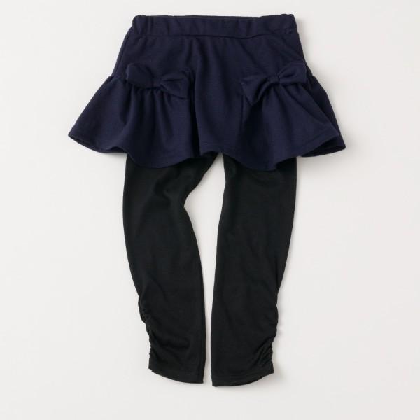 \SALE/レギンス付きスカート インナーパンツ付きスカート スカッツ 女の子 ボーダー リボン  80 90 100 110 120 130 こども服 キッズ ベビー|evercloset|14
