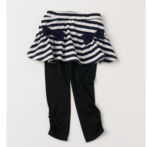 \SALE/レギンス付きスカート インナーパンツ付きスカート スカッツ 女の子 ボーダー リボン  80 90 100 110 120 130 こども服 キッズ ベビー|evercloset|15