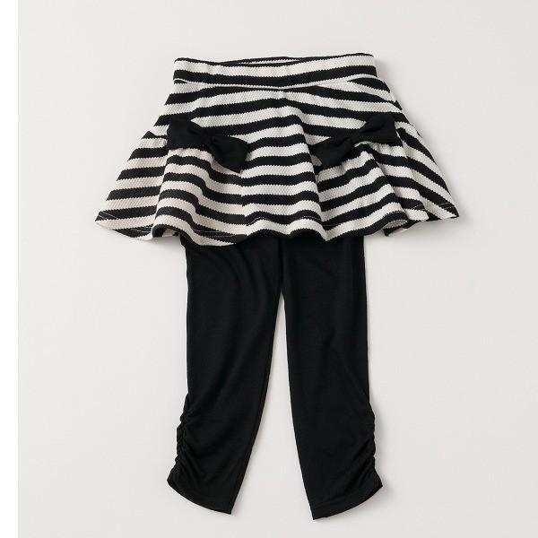 \SALE/レギンス付きスカート インナーパンツ付きスカート スカッツ 女の子 ボーダー リボン  80 90 100 110 120 130 こども服 キッズ ベビー|evercloset|13