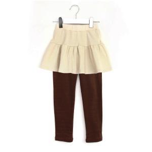 スカッツ 10分丈 スカート付きレギンス 無地 子供服 キッズ ジュニア 女の子 ボトムス フレア シンプル 着回し ヘビロテ かわいい カジュアル 春|ever closet