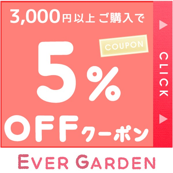 3,000円以上ご購入で5%OFFクーポン!【 Ever garden】