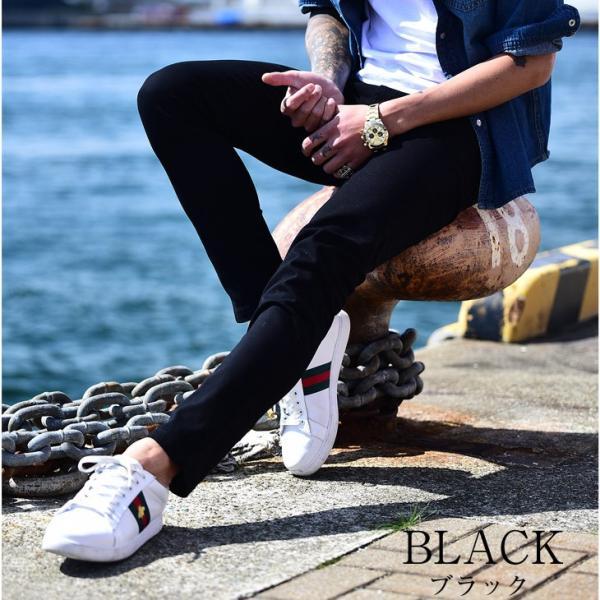スキニー メンズ スキニーパンツ ストレッチ 大きいサイズ 新着 チノ 黒 ブラック ビジネス タイト 細め 白 ホワイト パンツ ホワイト夏|evergreen92|18