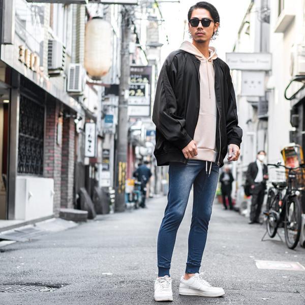 ジョガーパンツ メンズ デニム スウェットパンツ スウェット スウェットデニム カットデニム スリム ジョガー パンツ 大きいサイズ 小さいサイズ|evergreen92|20
