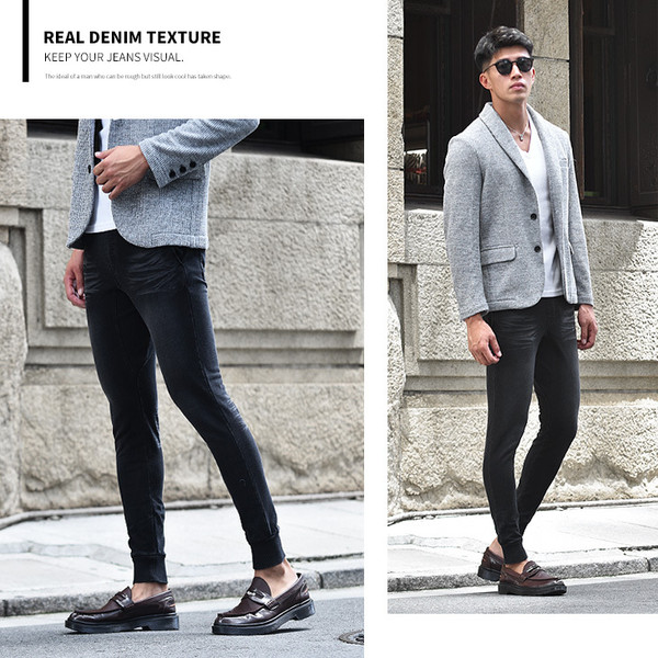 ジョガーパンツ メンズ デニム スウェットパンツ スウェット スウェットデニム カットデニム スリム ジョガー パンツ 大きいサイズ 小さいサイズ|evergreen92|22