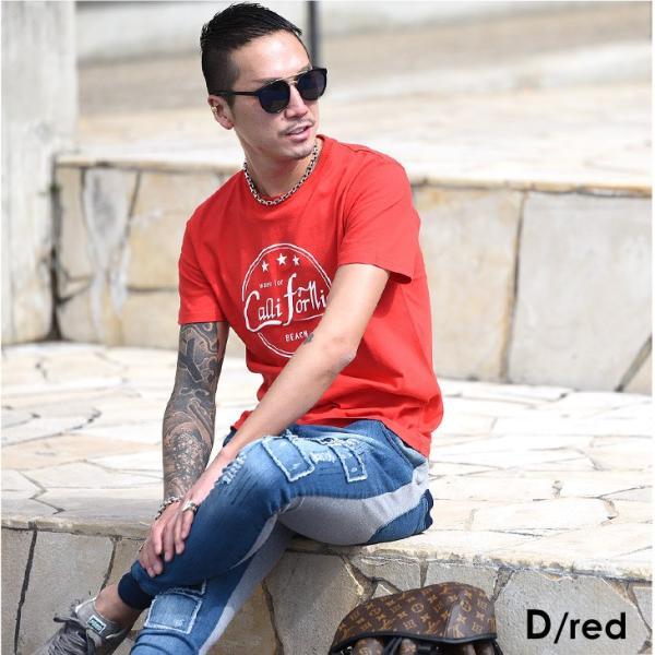 Tシャツ メンズ 半袖 夏 コーデ ブランド Vネック  新品 おしゃれ タイト 小さめ クルーネック かっこいい プリント ロゴ 白|evergreen92|32