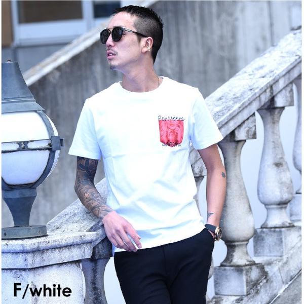 Tシャツ メンズ 半袖 夏 コーデ ブランド Vネック  新品 おしゃれ タイト 小さめ クルーネック かっこいい プリント ロゴ 白|evergreen92|35