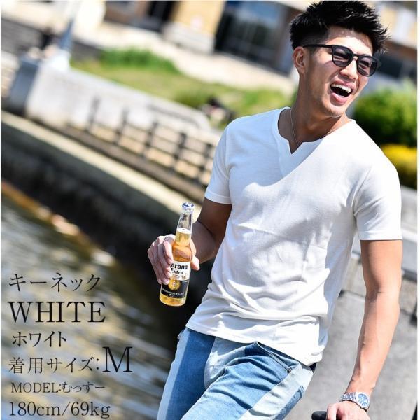 Tシャツ メンズ 半袖 ヘンリーネック tシャツ 無地 キーネック 半袖tシャツ 大きいサイズ トップス  夏 スリム LL|evergreen92|31