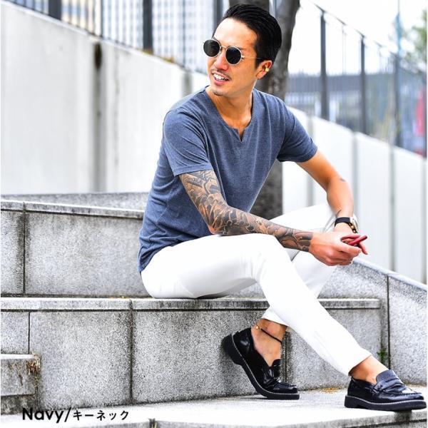 Tシャツ メンズ 半袖 ヘンリーネック tシャツ 無地 キーネック 半袖tシャツ 大きいサイズ トップス  夏 スリム LL|evergreen92|34