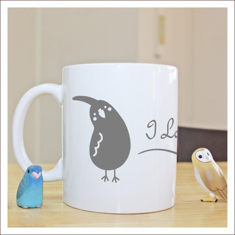 愛鳥ネーム入りなぁにマグカップ,鳥グッズ,鳥雑貨,シリーズ