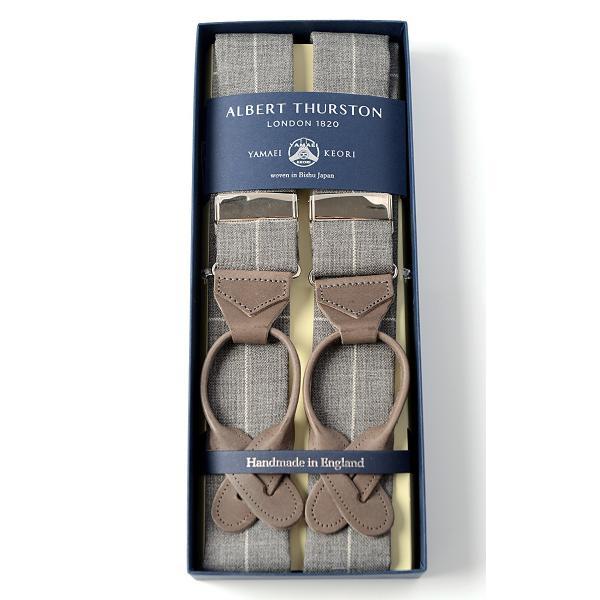 ALBERT THURSTON サスペンダー 200周年記念 山栄毛織 Wネーム 当店限定企画 ウール ウインドウペン /アルバートサーストン excy 16