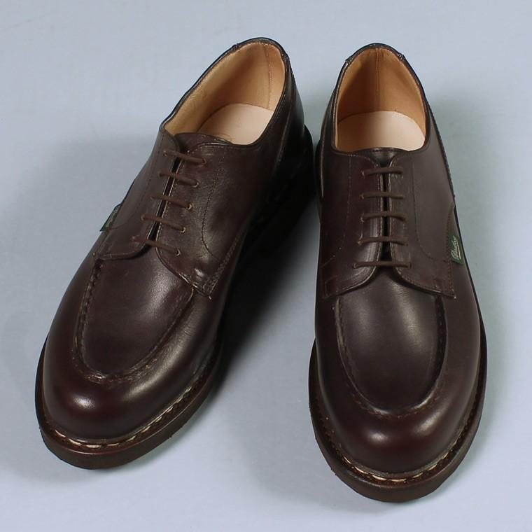PARABOOT パラブーツ,CHAMBORD シャンボード CAFE カフェ ダークブラウン Uチップシューズ 短靴 革靴 フランス製 メンズファッション,通販 通信販売