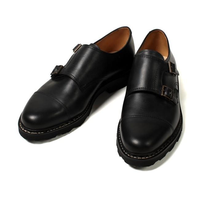PARABOOT パラブーツ, WILLIAM ウィリアム ダブルモンクシューズ 短靴 革靴 フランス製 メンズファッション,通販 通信販売