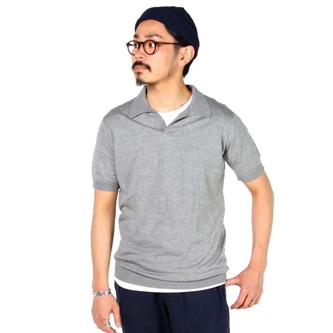 JOHN SMEDLEY ジョンスメドレー,スキッパーカラー サマーニット ポロシャツ シーアイランドコットン メンズファッション 定番 イギリス製,通販 通信販売