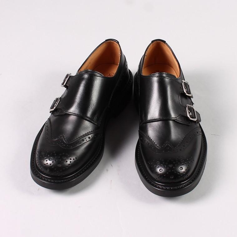 Tricker's トリッカーズ,ダブルモンク ウィングチップシューズ 短靴 革靴 レザーシューズ イギリス製 定番 メンズファッション,通販 通信販売