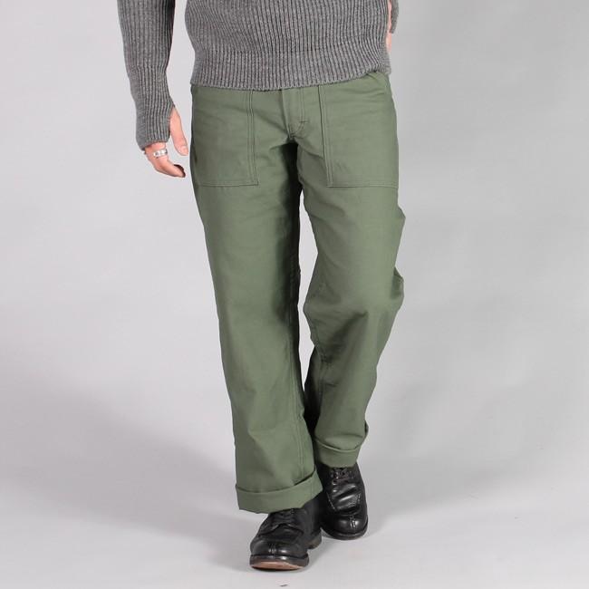 GUNG-HO ガンホー,ファティーグパンツ ワークパンツ オリーブグリーン アメリカ製 定番 メンズファッション,通販 通信販売
