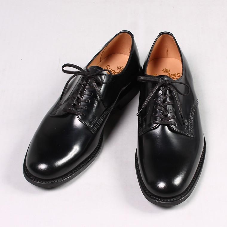 SANDERS サンダース,プレーントゥシューズ 外羽根 オフィサーシューズ イギリス製 革靴 メンズファッション,通販 通信販売