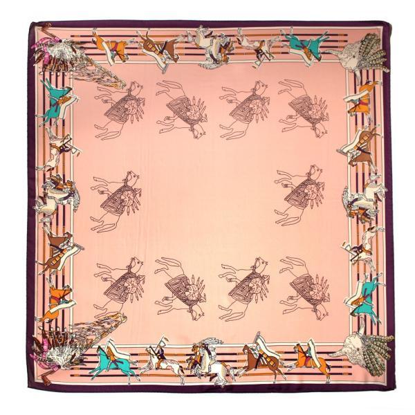 スカーフ 大判 シルクタッチ 花柄 チェック柄 大判スカーフ リング ベルト バッグ ドット リボン|exrevo|32