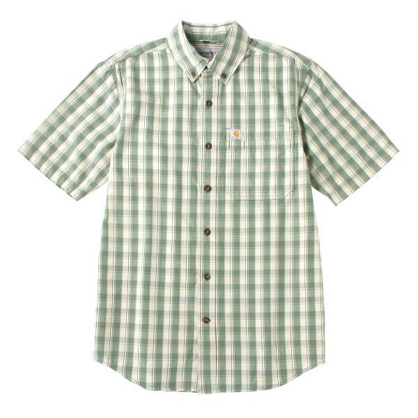 カーハート シャツ 半袖 ボタンダウン ポケット チェック柄 薄手 メンズ 104174 USAモデル|ブランド Carhartt|チェックシャツ アメカジ|f-box|24