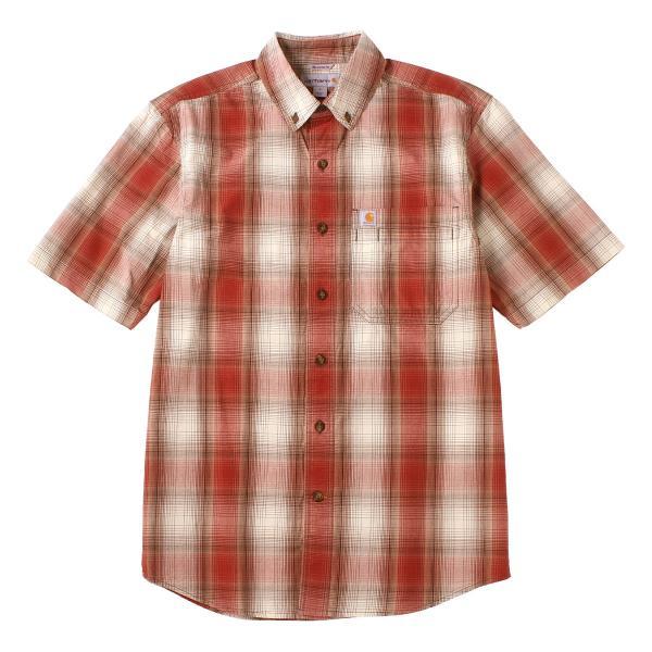 カーハート シャツ 半袖 ボタンダウン ポケット チェック柄 薄手 メンズ 104174 USAモデル|ブランド Carhartt|チェックシャツ アメカジ|f-box|25