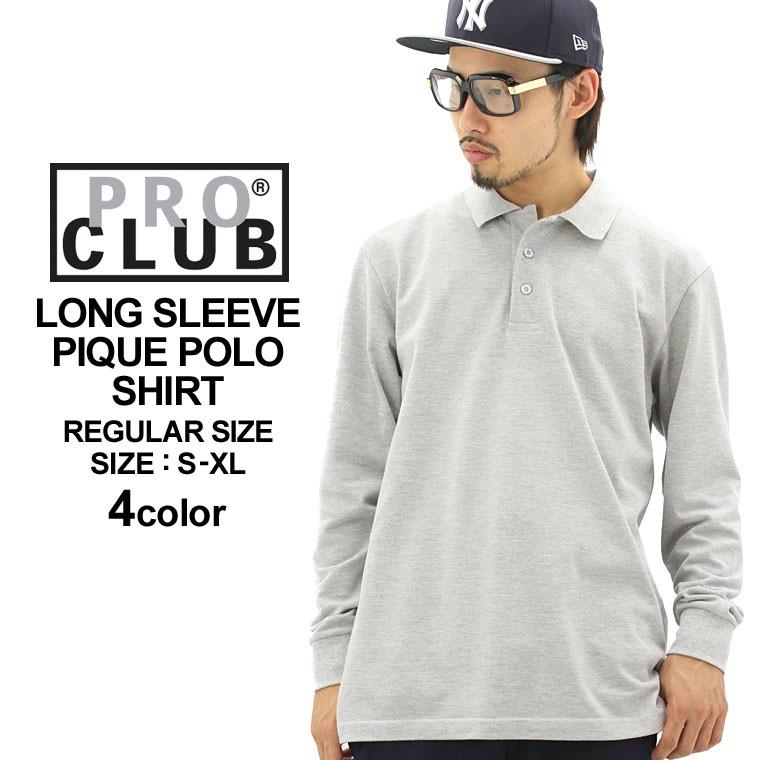PROCLUB プロクラブ 長袖ポロシャツ