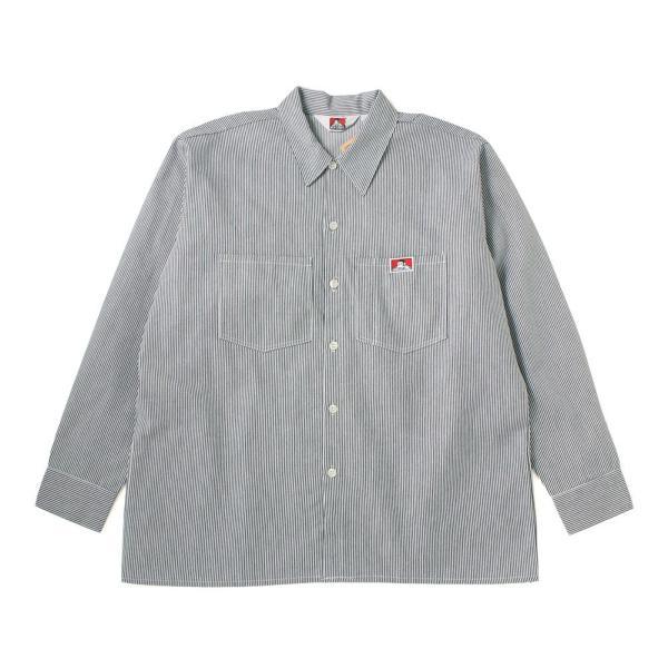 ベンデイビス シャツ 長袖 メンズ ワークシャツ ヒッコリー 大きいサイズ USAモデル|ブランド BEN DAVIS|長袖シャツ アメカジ ストライプ|f-box|14