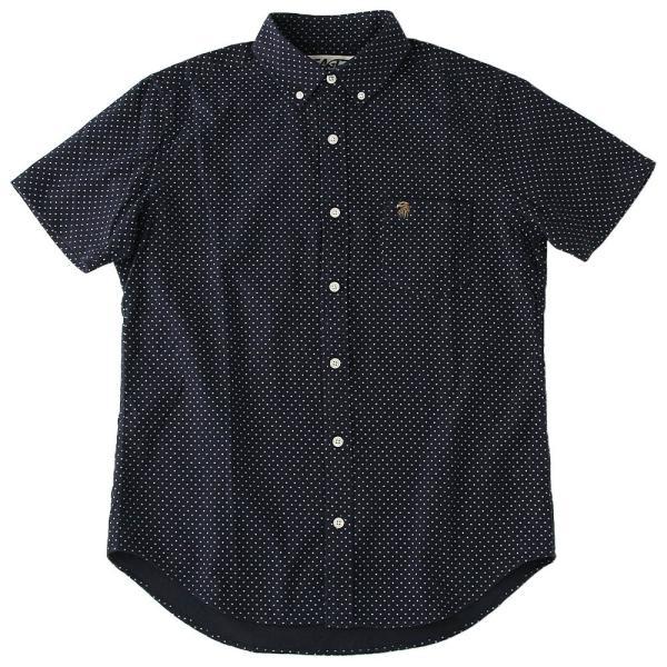 シャツ 半袖 メンズ ボタンダウン ポケット ドット柄 大きいサイズ 日本規格|ブランド EAGLE THE STANDARD イーグル|半袖シャツ カジュアル 2019 春夏 新作|f-box|19