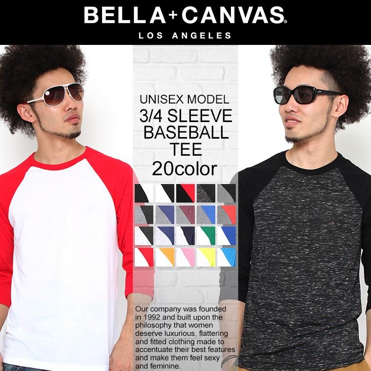 Bella + Canvas ベラ・キャンバス 7分袖Tシャツ