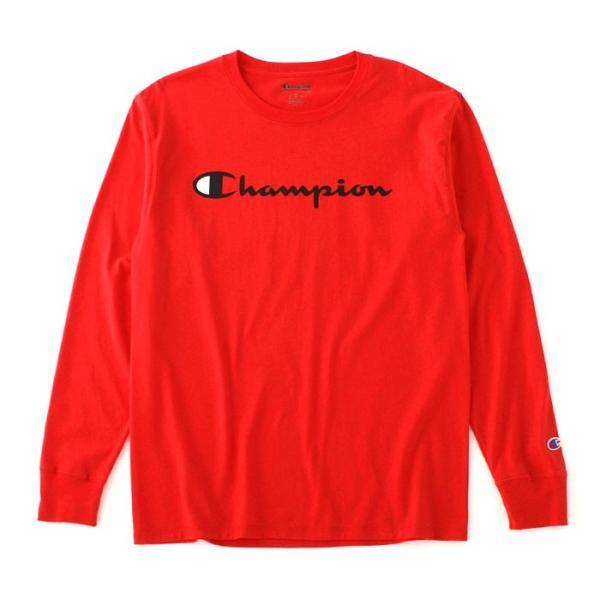 チャンピオン Tシャツ 長袖 メンズ 大きいサイズ USAモデル|ブランド ロンT 長袖Tシャツ ロゴ アメカジ|f-box|24