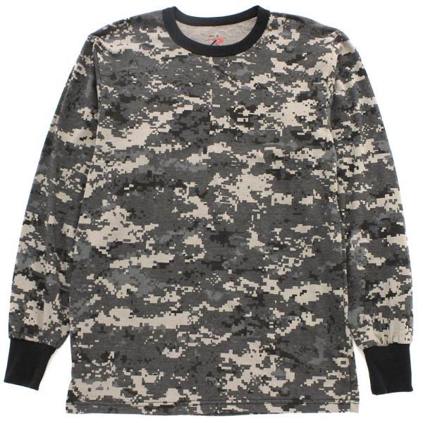 ロスコ Tシャツ 長袖 メンズ 大きいサイズ USAモデル 米軍|ブランド ROTHCO|ロンT 長袖Tシャツ ミリタリー 迷彩|f-box|14