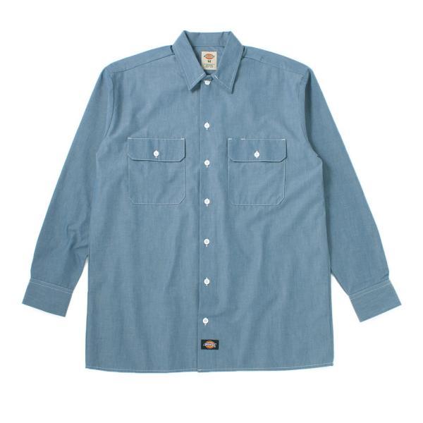 ディッキーズ シャツ 半袖 シャンブレー WL509 メンズ 大きいサイズ USAモデル Dickies 長袖シャツ カジュアルシャツ S M L LL 3L f-box 09