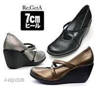 Re,GetA リゲッタ パンプス 7cm はきやすい 歩きやすい かわいい【日本製】【送料無料】f-fuji