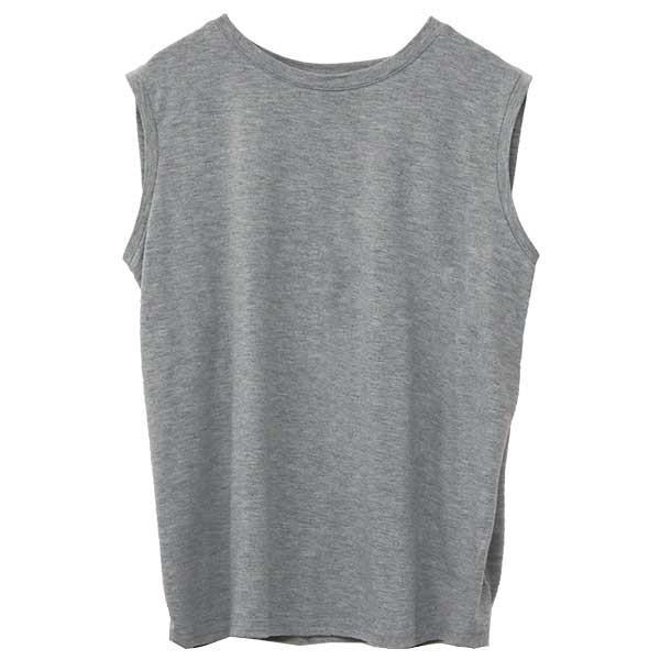 ノースリーブ Tシャツ レディース 春 夏 ボーダー ロゴ 白 ホワイト カットソー トップス 送料無料|f-odekake|24