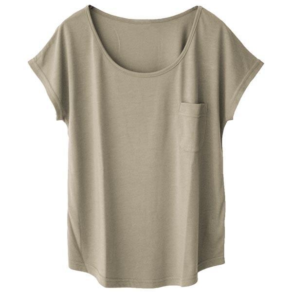 Tシャツ レディース Uネック シンプル ベーシック 美ライン 半袖 大きいサイズ 無地 白 黒 ボーダー ロゴ ホワイト とろみ カットソー 送料無料|f-odekake|31
