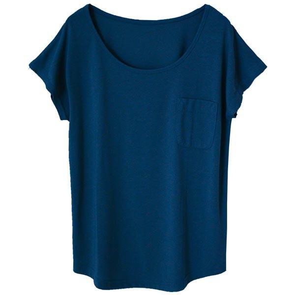 Tシャツ レディース Uネック シンプル ベーシック 美ライン 半袖 大きいサイズ 無地 白 黒 ボーダー ロゴ ホワイト とろみ カットソー 送料無料|f-odekake|30
