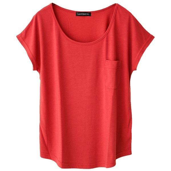 Tシャツ レディース Uネック シンプル ベーシック 美ライン 半袖 大きいサイズ 無地 白 黒 ボーダー ロゴ ホワイト とろみ カットソー 送料無料|f-odekake|26